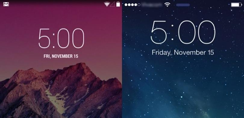 ios7 vs android kitkat
