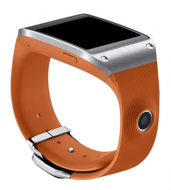 Samsung Galaxy Gear de color naranja
