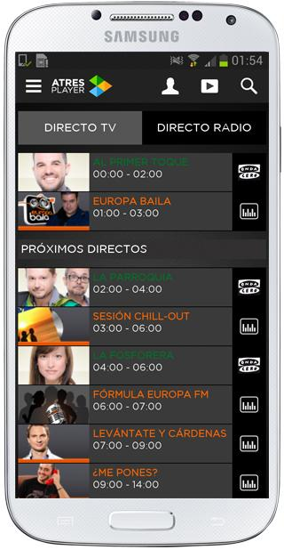 Directos en Atresplayer