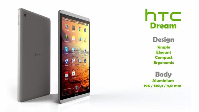 Diseño del HTC Dream tablet