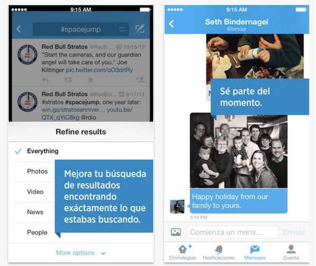 actualizacion twitter ios android