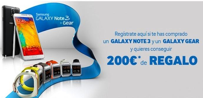 promo samsung note 3 y gear