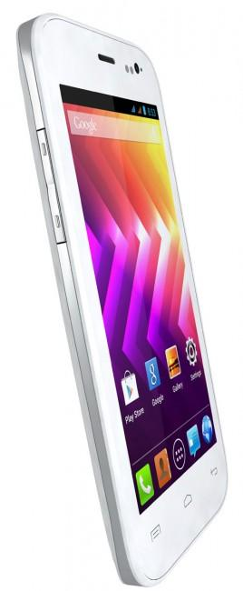 Wiko Iggy vista lateral en color blanco