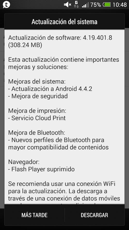 htc one actualizacion android kitkat