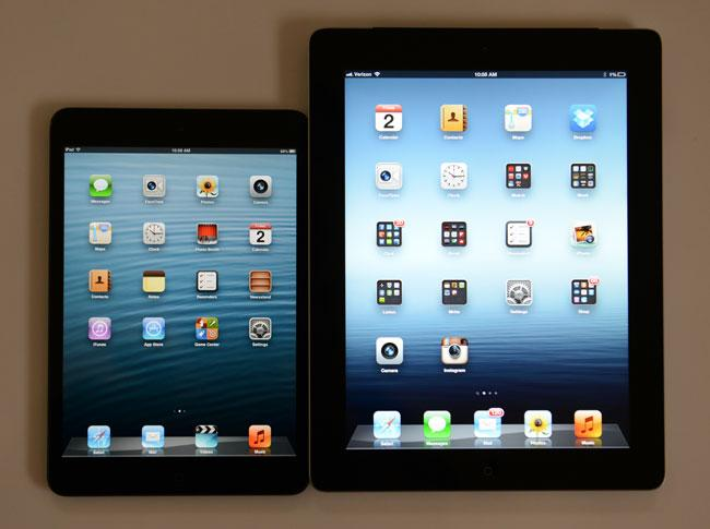 iPad 2 frente a iPad Mini