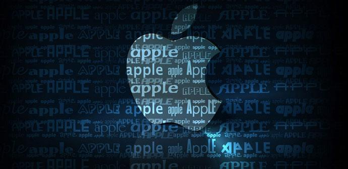 Logotipo de Apple en azul