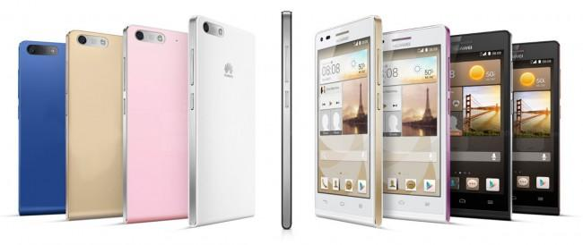 Huawei Ascend G6 en diferentes color y formatos