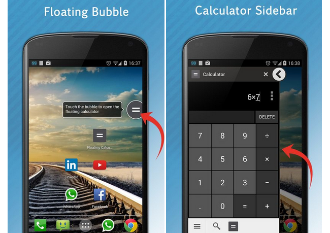 Floating Calculator App