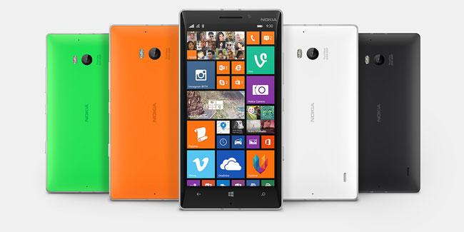 Nokia Lumia 930 en distintos colores