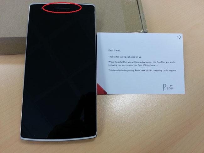 Frontal del OnePlus One