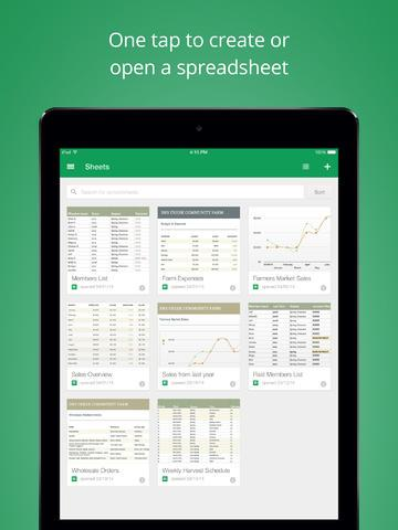 google sheets ios 2