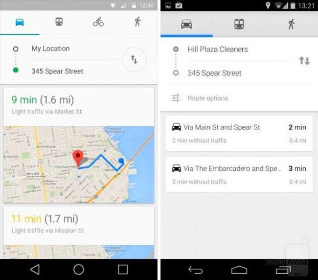 Google Maps Android L