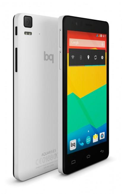 Bq Aquaris E5 HD blanco y negro