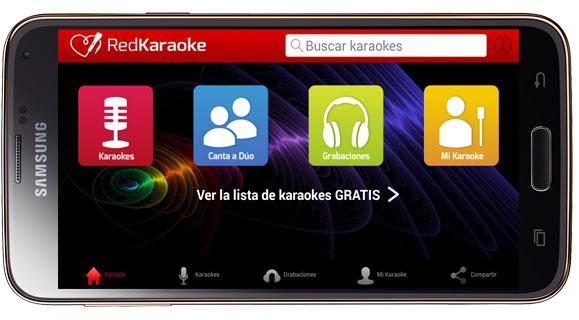 Interfaz Red Karaoke