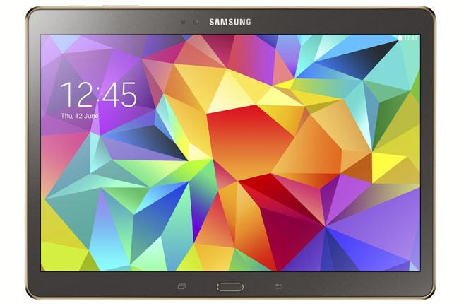Samsung Galaxy Tab S en color marrón bronce