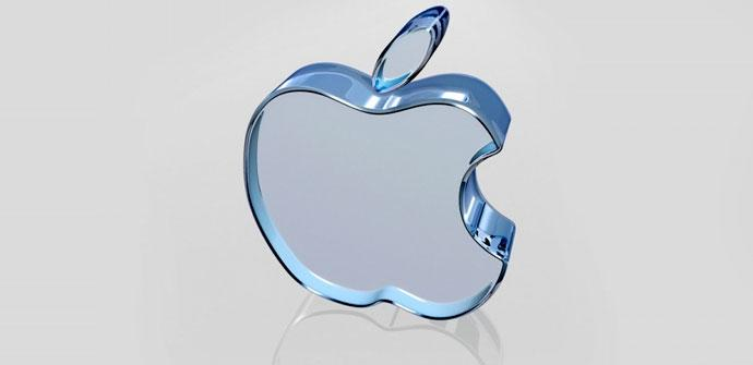 Logotipo de Apple en cristal