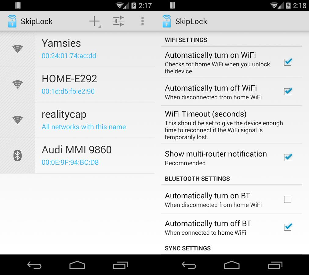 SkipLock Wifi Bluetooth Unlock