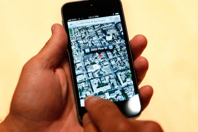 Google Maps en iPhone 5