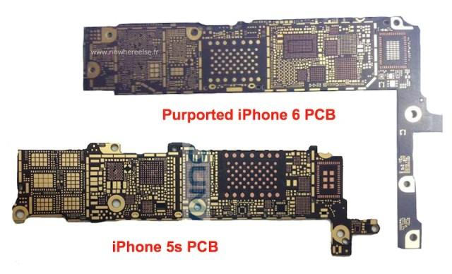 Comaprativa PCB del iPhone 6 vs iPhone 5s