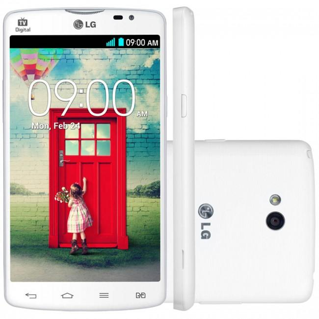 LG L80 vista frontal, lateral y trasera