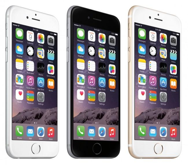 iPhone 6 en blanco, negro y oro