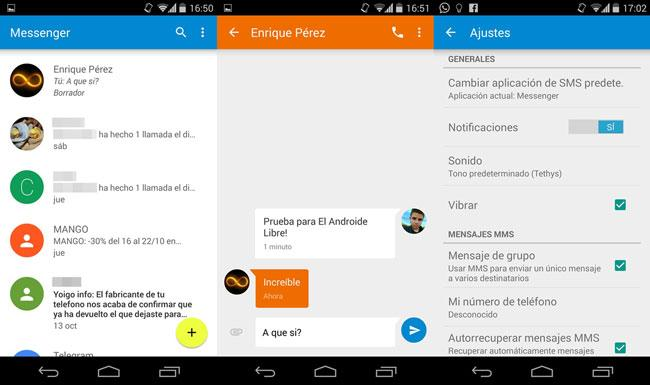 Messenger en Android 5.0 Lollipop
