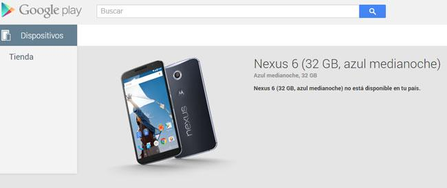 Nexus 6 en Google Play