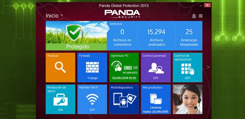 Captura de pantalla de Panda Global 2015