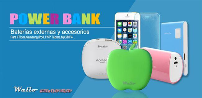 Batería de Power Bank en color verde