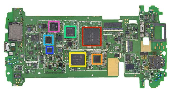 Placa base del Nexus 6
