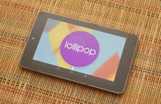 Nexus 7 de 2012 con Android Lollipop