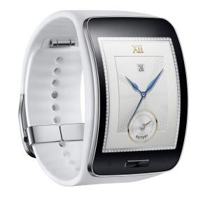 Samsung Gear S en color blanco con correa de color blanco