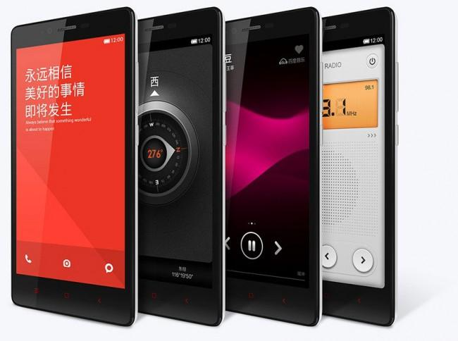 Xiaomi Red Mini Note 4G con varias pantallas.