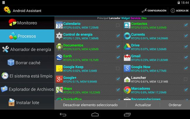 Aplicacion Assistant for Android
