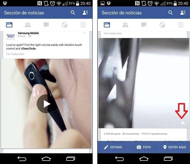 Reproduccion automatica de videos en Facebook