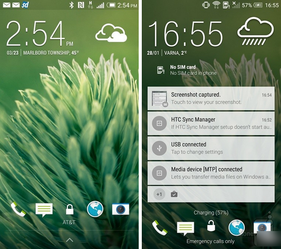 HTC One M8: Android 4.4 KitKat vs 5.0 Lollipop.