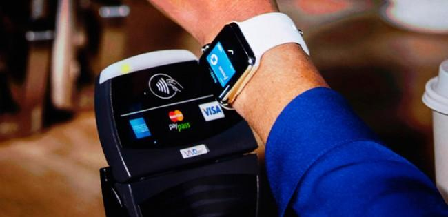 Apple Pay con un Apple Watch.
