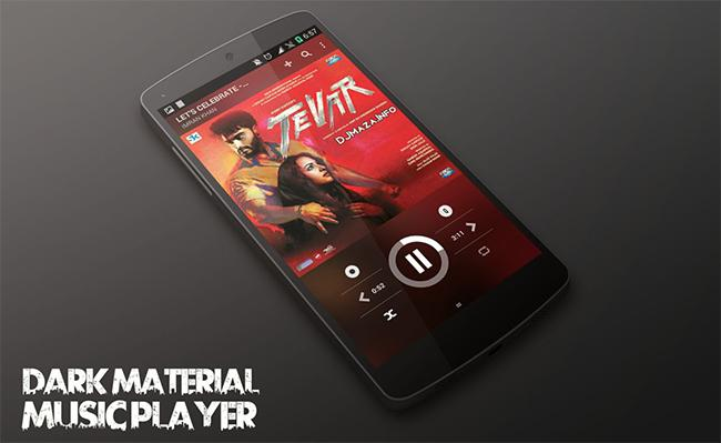 Dark Material Music Player