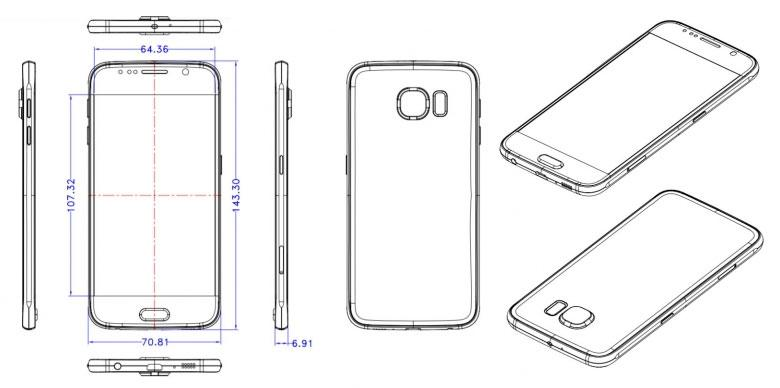 Samsung Galaxy S6 blueprints.