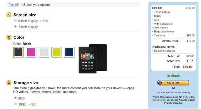 Oferta de la tablet Amazon Kindle Fire HD 7
