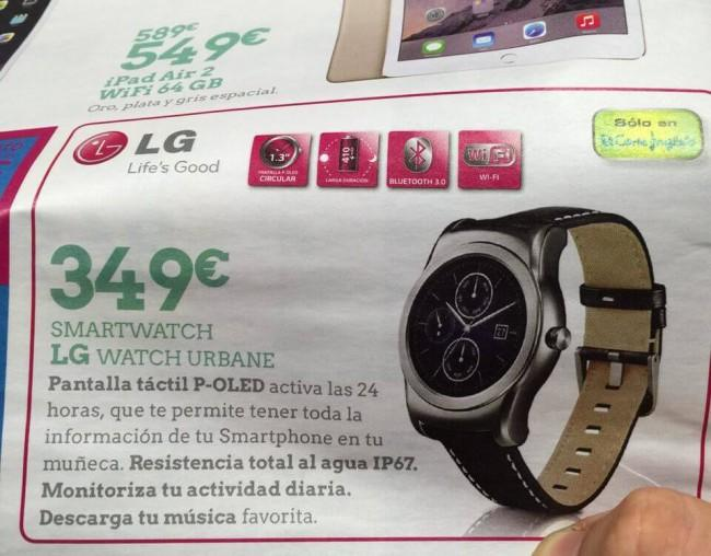LG Watch urbane spain