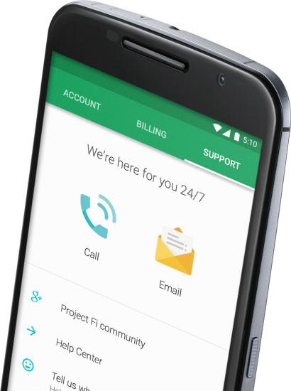Nexus 6 compatible con Project Fi