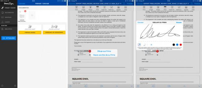 DocuSign para iOs y Android.