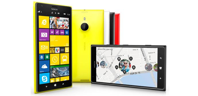 Lumia 1520 con Windows Phone.