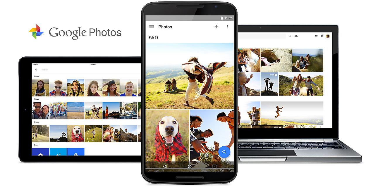 Interfaz de Google Photos
