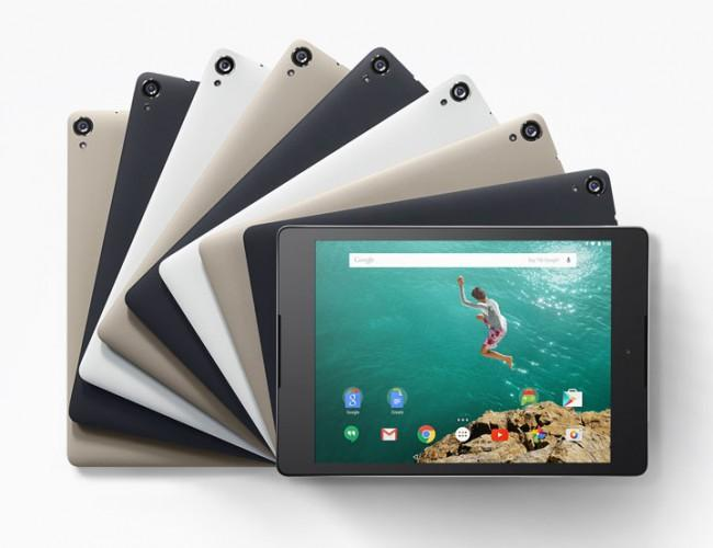 Nexus 9 en distintos colores