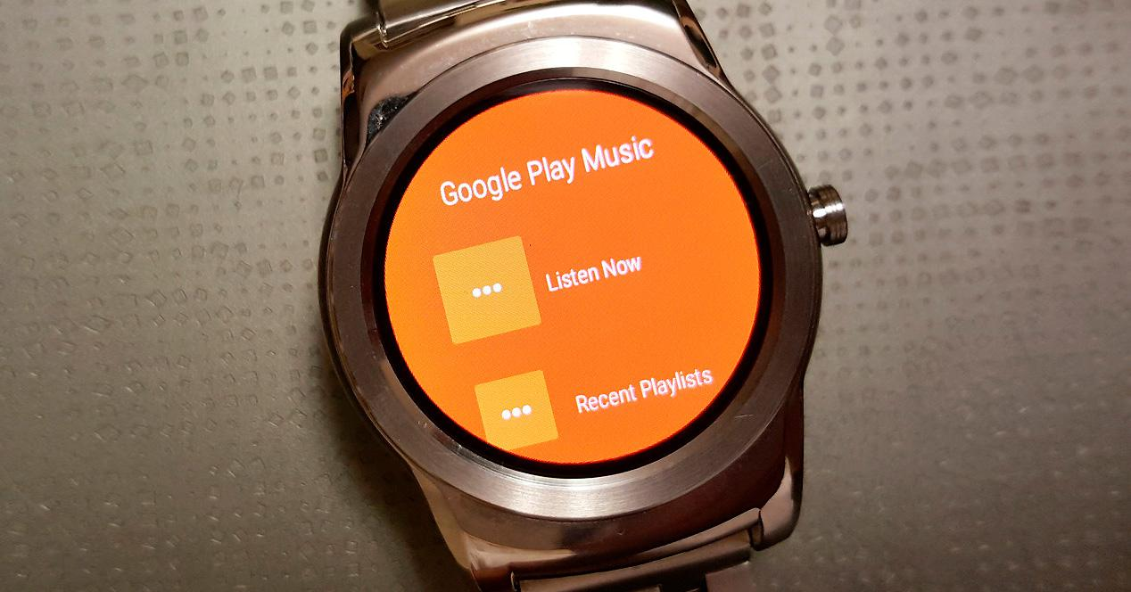 Google Music en Android Wear.