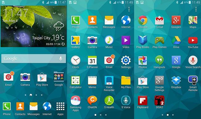 TouchWiz Samsung Galaxy S6