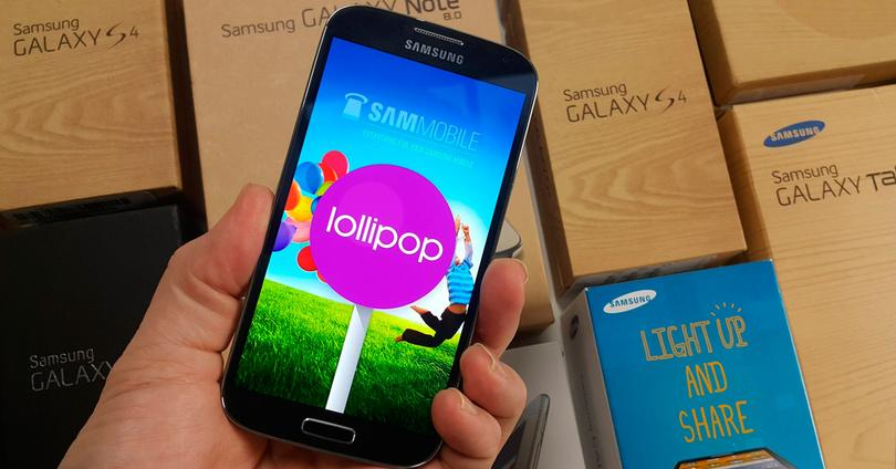 Galaxy S4 4G+ con Lollipop.