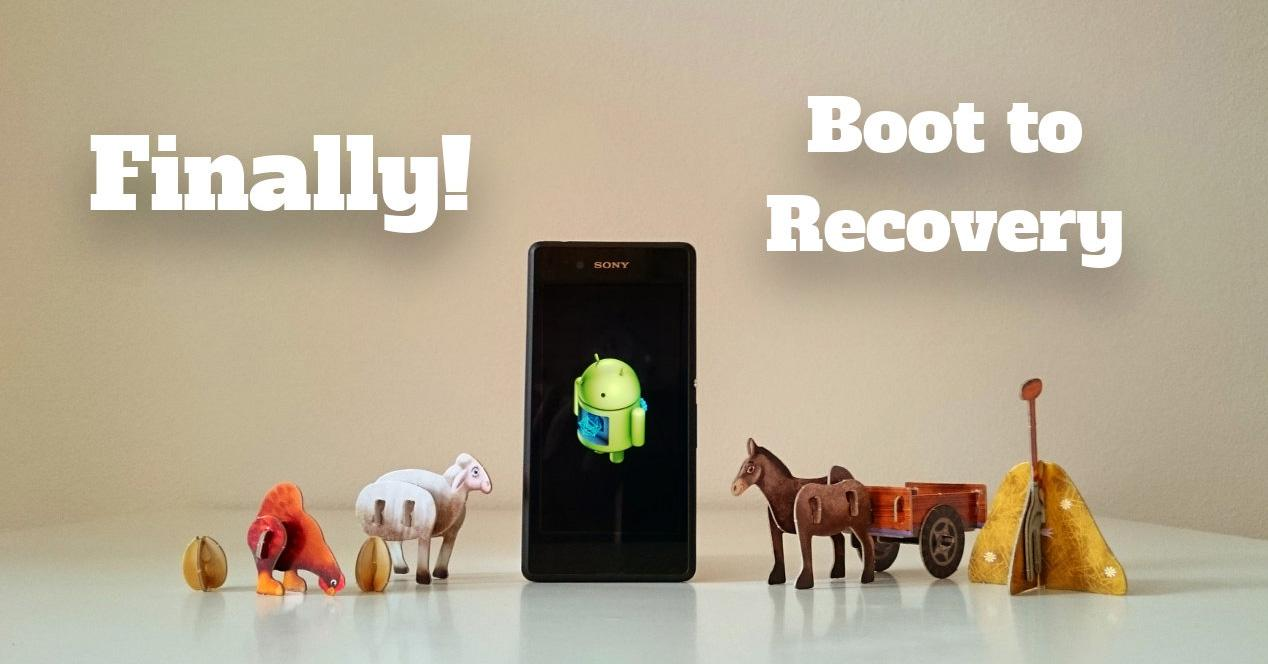 Xperia boot on recovery.